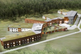 Gröna tak på Oskarslunds vårdboende i Karlstad