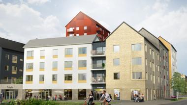 Byggstart för kvarteret Tallen i Piteås nya stadsdel