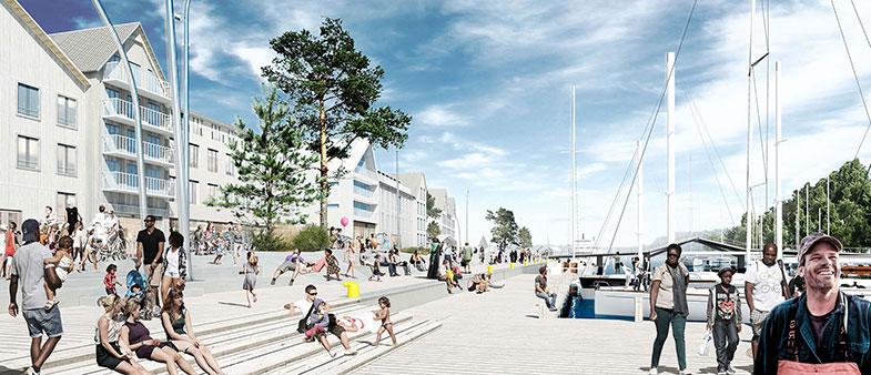 Arkitekt bakom förslaget för Norrtäljes nya offentliga rum är Sydväst arkitektur.