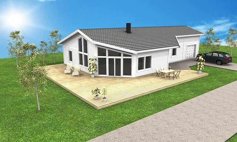 Skellefteå Kraft bygger hus som är bortkopplat från elnätet
