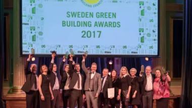 De prisades på Sweden Green Building Awards