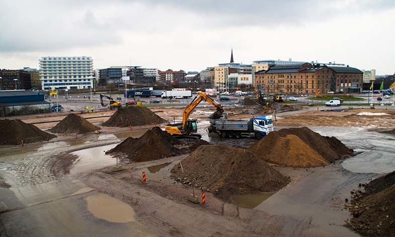 Här grävs för kretsloppet till Oceanhamnen