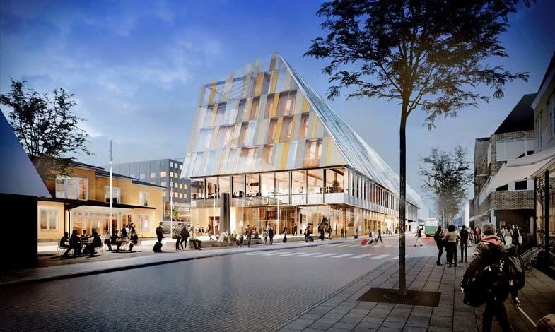 Växjö får nytt kombinerat stads- och stationshus